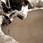 Matt Neely (R.I.P.) grinding the Black Bottom Pool, Oakland, CA, 1992