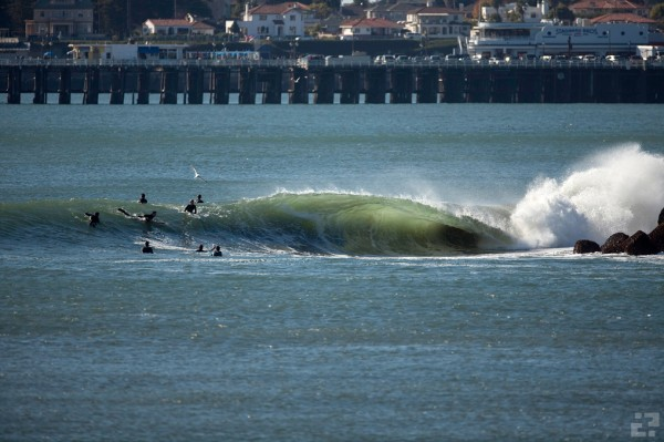 Santa Cruz Harbor going off. Photo: Patrick Trefz