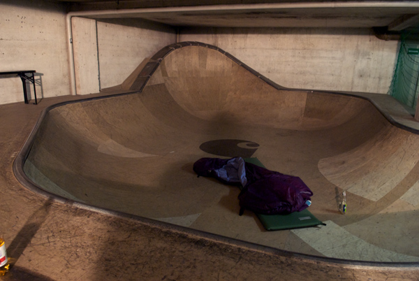 A good place to skate? Maybe? A good place to sleep? For sure.