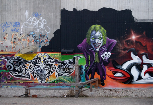 Joker graffiti