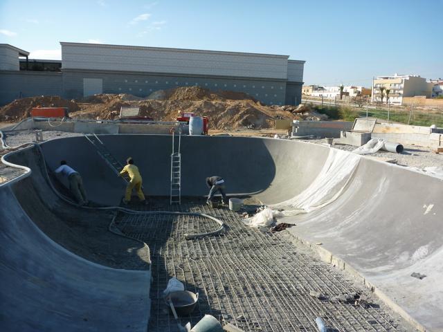 how to build a concrete skatepark