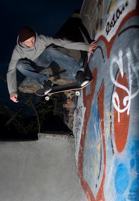 Johan Lino Waad - wall ride at the hole