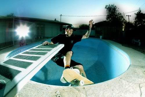 Frontside grind diving board grab. Photo: Matt Price