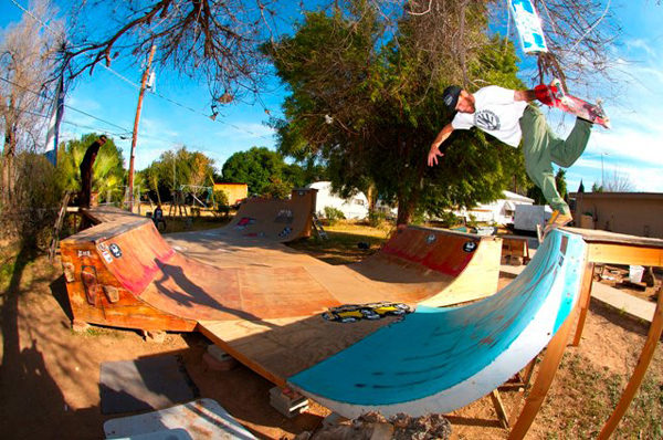 Wrex's backyard ramp.  Photo: Aaron Forjan