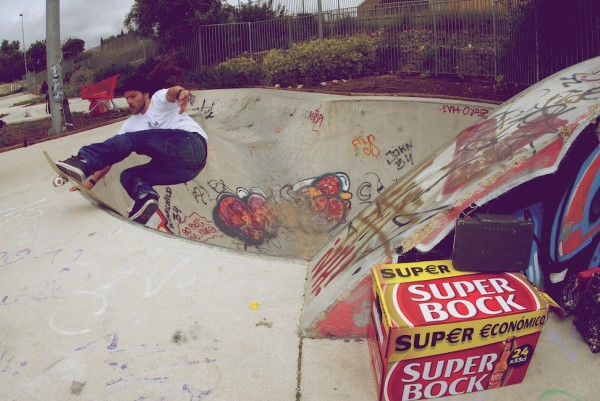 Martyn Thomas. Front rock in the round bowl with a 12 pack of Super Bock for motivation.