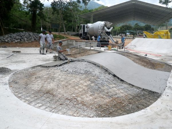 Overview of Pista de Skate. Ilhabela, Brazil.