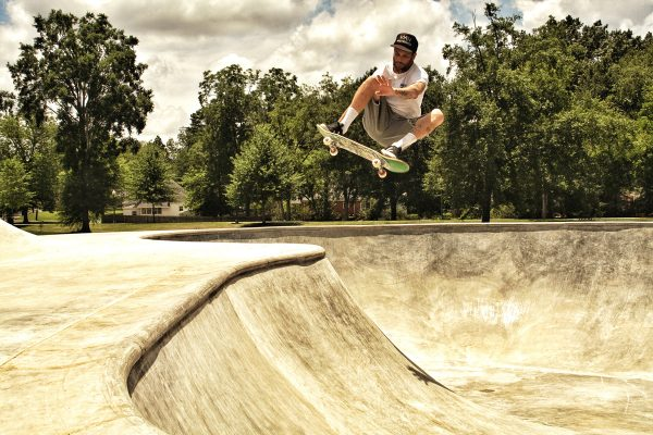 Wrex. FS ollie over West Point hip. Smalltown skatepark in Mississippi he built this summer.  Photo: Kim Cook
