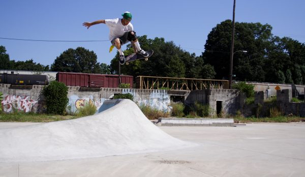 Wrex. Ollie over the tusk at a Memphis spot no longer there.  Photo: Kim Cook