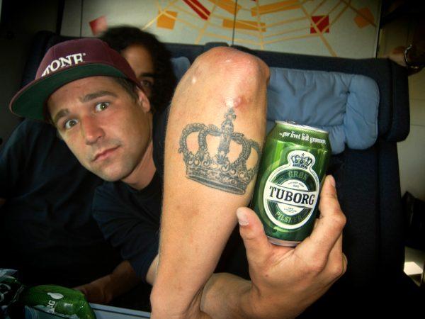 Tuborg tattoo. Jordan Hoffart.