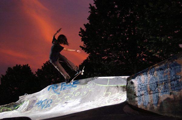 Ianie. Pivot to fakie in Bakio. Photo: Alex Mosterin