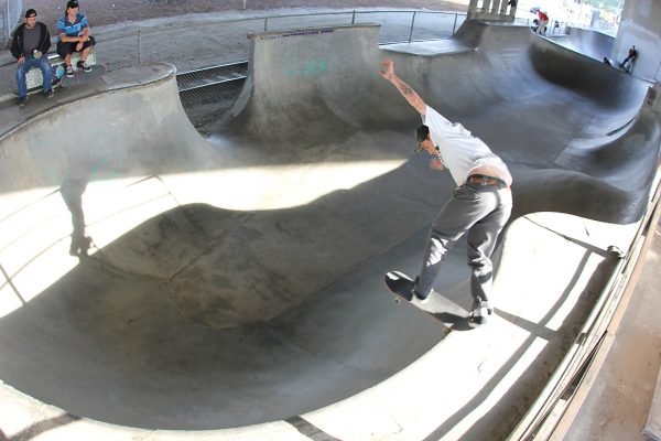 Riley Stevens shreds bs tailslides over the hip into the pocket.