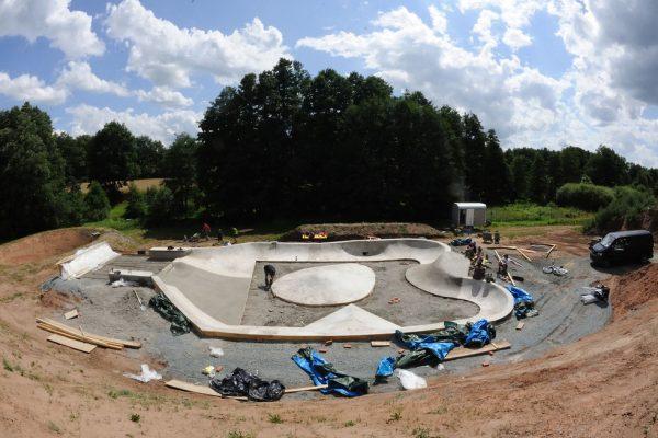 Neudrossenfeld Skatepark. Construction phase.