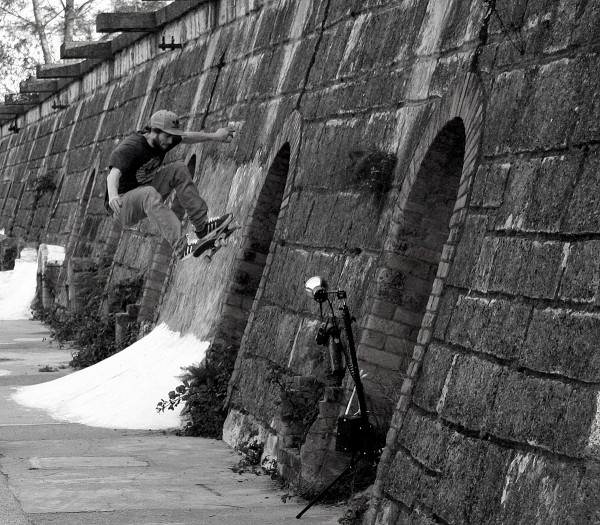 Silas. Gap to frontside wallride.