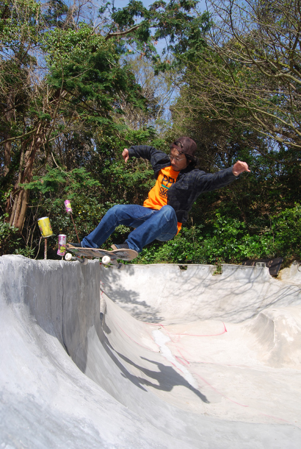 Jahi. Hit the can 5-0 Grind.  Photo: Honda