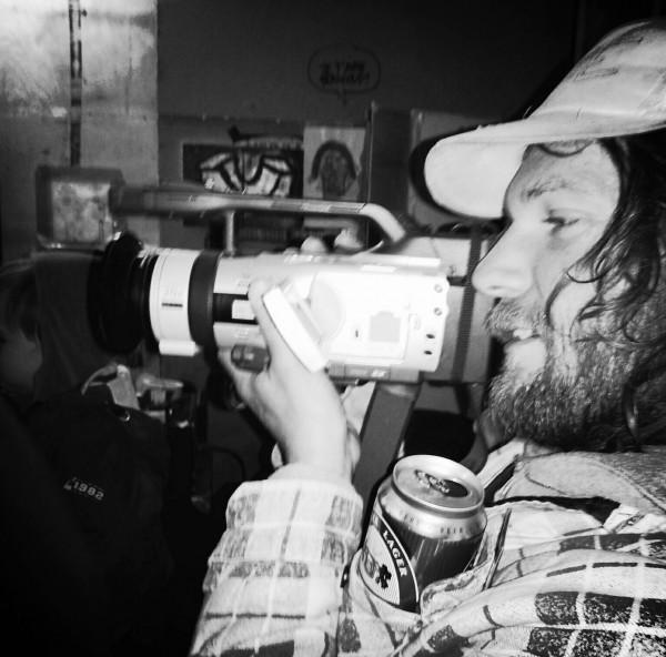 Mico filming. Photo: Tadej Vaukman