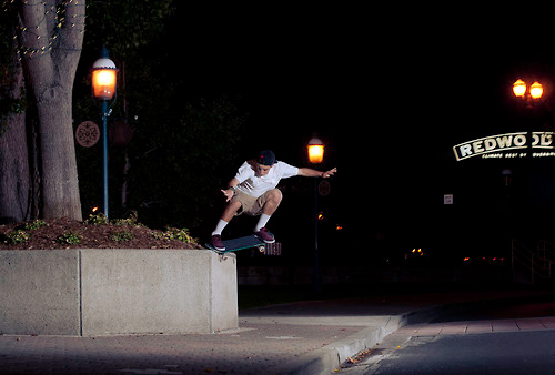 Nick. Bump to crooked grind.  Photo: Tim Dodson