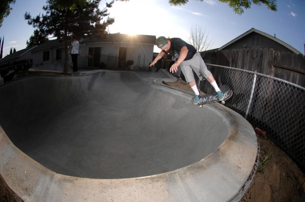 Gene Boles.  Feeble in his own backyard paradise.