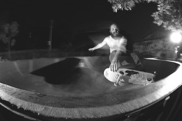 Sergej Vutuc. When not taking photos or building skateable sculptures, can sometimes be seen riding the skateboard with a  vengeance.  Photo: Kristijan Smok
