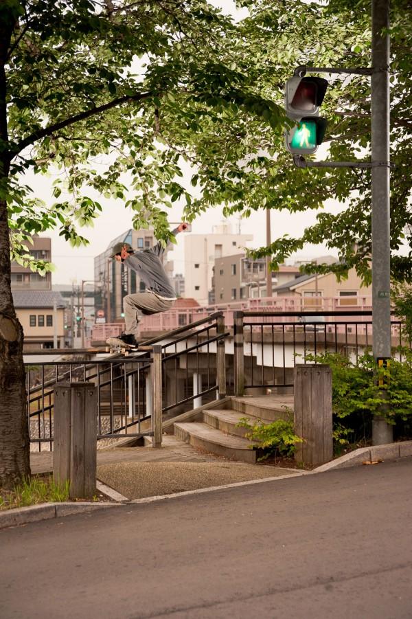 """SHOGO """"Shogo"""" TERANISHI. Ishikawa. Tail slide. Photo NORI"""