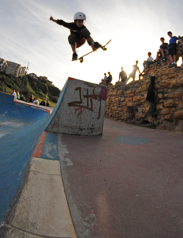 Paul Tellez. Quarter pipe fly out.