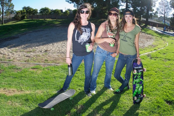 Santa Cruz skater chicks