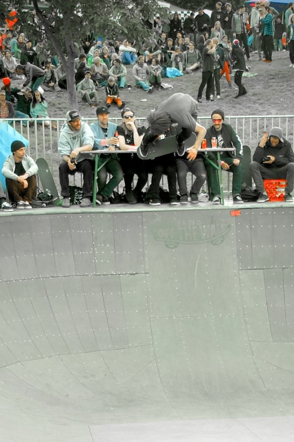 Marcel Weber. Blasting a backside air while the judges were tripping out.