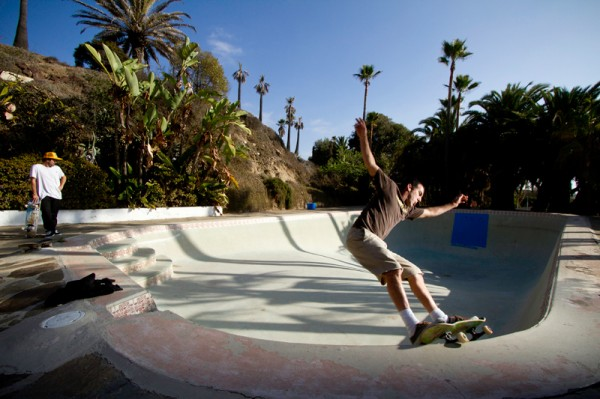 Bailey. Backyard Baja California pool skating.