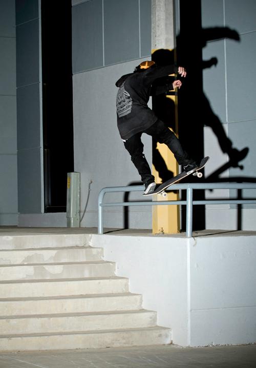 Roberto Alemañ. Frontside boardslide.
