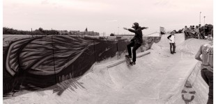 Sebbe Debuck is not only good on a snowboard. He's got some smith grind skills too.