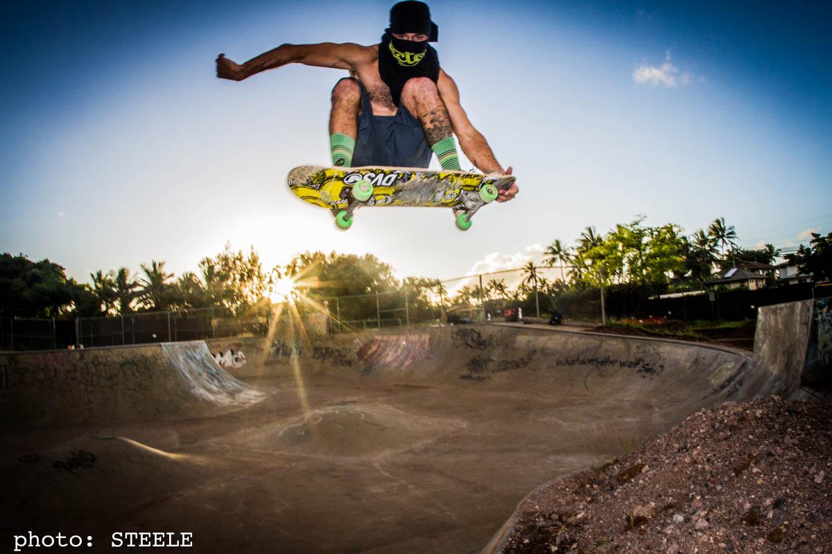 Park Barge Banzai Skate Park Oahu Hawaii Confusion