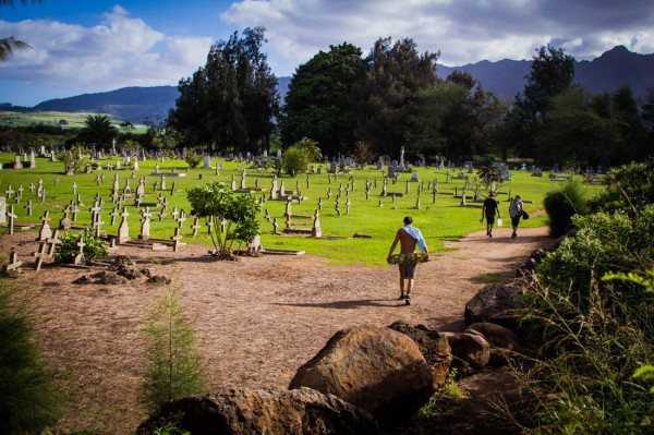 The walk back. Graveside, Hawaii.  Photo: Jon Steele