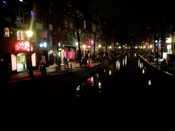 The red light district of Amsterdam.