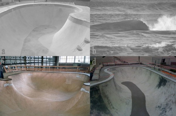 A) Mers Les Banes, B) Zandvoort, Holland, C) Area 51 bowl, Eindhoven, D) M&M bool, Amsterdam