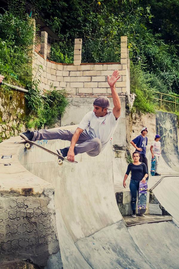 Diego Doural. Crail on the extension.  Photo: Joseba Aldalur Tetuan.