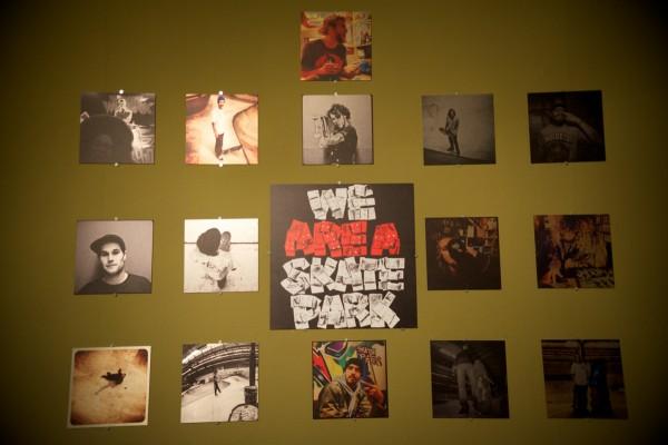 Nicola Debernardi's photo show at the entrance to AREA 51.