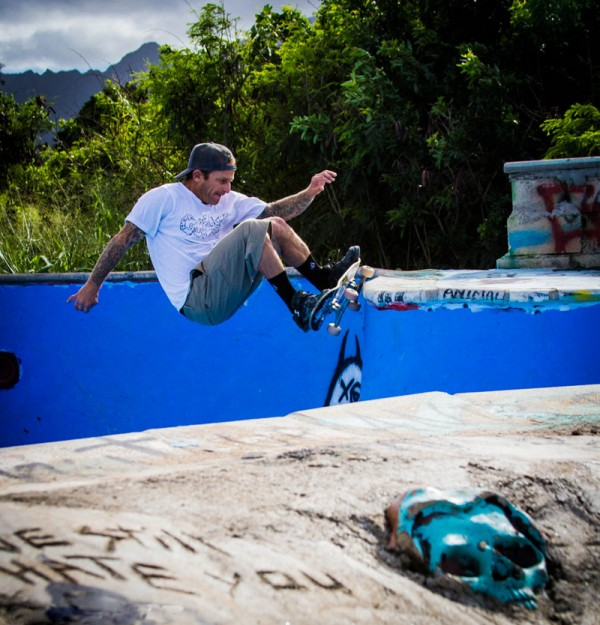 "Graveside local Jason ""Tippy"" Tipp slash grinding the hip.  Photo. Jon Steele"