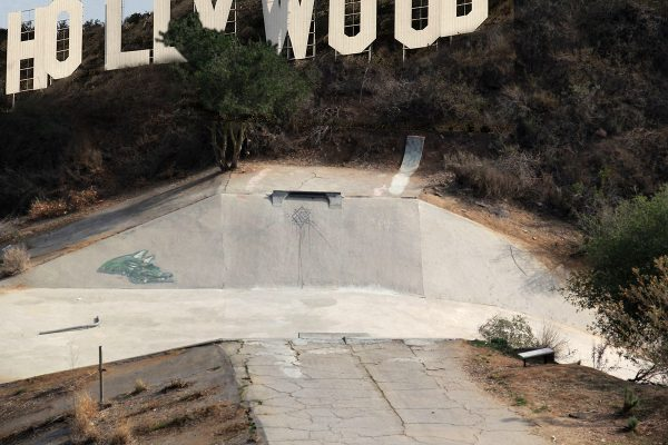 Bronson Ditch. Find the Hollywood sign. Find the ditch.  Photo: Clayton Graul.