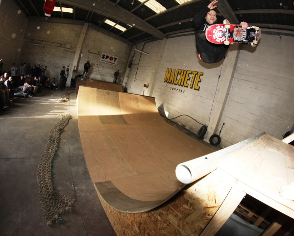 Hugo with a huge FS air.