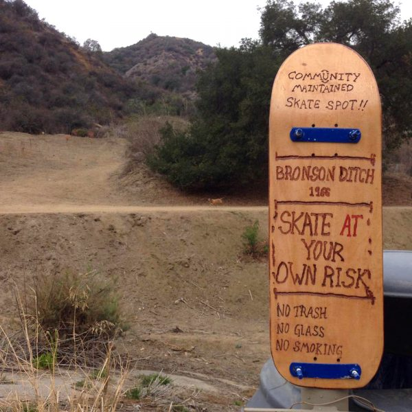 Skate at your own risk. Welcome to Bronson Ditch!