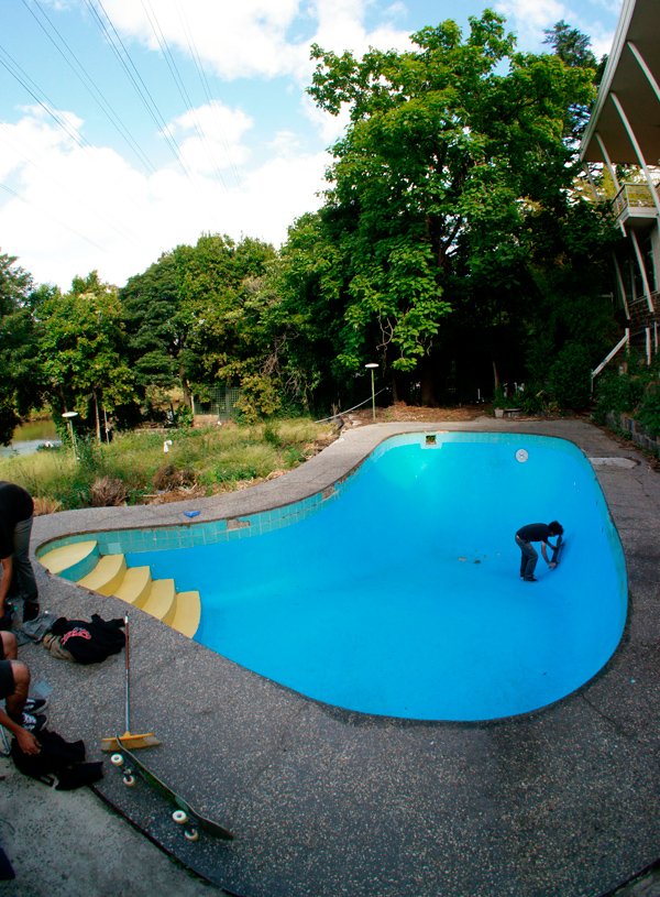 "After ""the vandals"" were finished cleaning up the pool.  Photo: Brett Shipley"