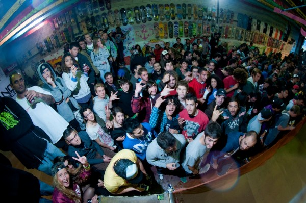 The stoked out crowd in Cadiz, Spain.