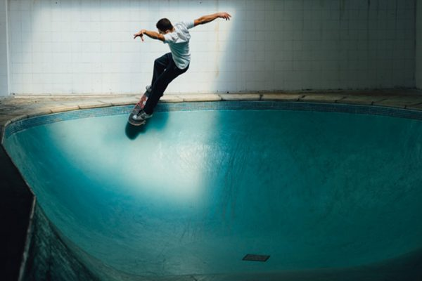 João Sales. Stlying out a smith grind on his own creation.