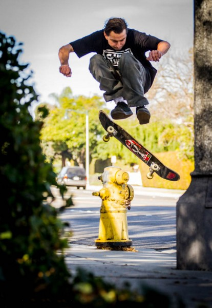 Frankie Hill - Fire hydrant Shuv-It.  Photo: Jon Steele
