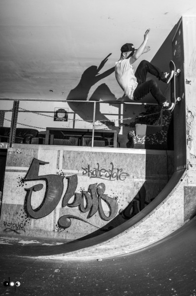 Michi Nadler. Wallride to fakie.
