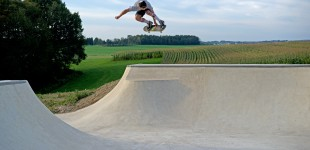 Kupa. Backside melon grab off the hip and over the loveseat over the trees in the german countryside. Photo: J. Hay