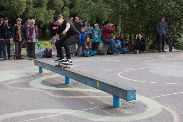 This year we even had a girls contest, first time ever! Sandra Vuori fakie 50-50.