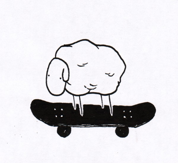 Skaters nowadays.  Artwork by JAAAW