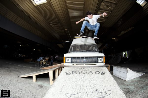 Peter Boccalini. Ollie over truck.