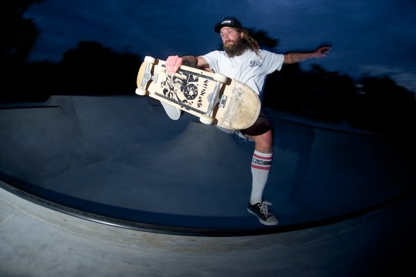 Mico, another one of the guys who built the bowl, also from Slovenia. Slob plant.