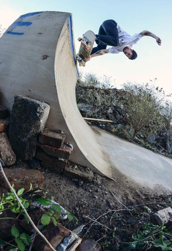 Ryan Salter - 5-0 Pull In.  Photo: Tom Frankham